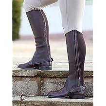 Shires–Polainas de cuero Cantley piel, color marrón, tamaño small