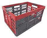 Profi - Klappbox TÜV zert. 45 L bis 50 kg anthrazit / rot Faltbox Transportkiste Kunststoff Box Kiste (Bild: Amazon.de)