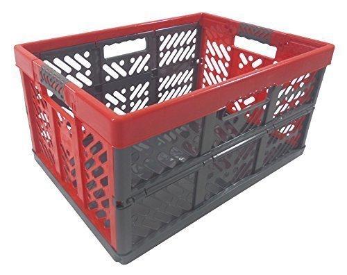 Profi - Klappbox TÜV zert. 45 L bis 50 kg anthrazit / rot Faltbox Transportkiste Kunststoff Box Kiste (Kunststoff-klappbox)