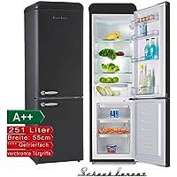Schaub Lorenz sl250b Rétro Réfrigérateur Congélateur Noir Classe  d efficacité énergétique   A + 159a54052599
