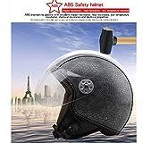 Motorradhelm Elektrofahrzeug halbgedeckten Halbhelm Herren und Damen Air Force Vintage Helme vier Jahreszeiten Helme