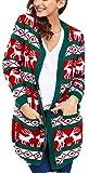 Charmley Femme Gilet Noël Pull Imprimé Tricotés à La Mode Manteau Chandail Grande Taille Cardigan Tops Sweat-shirts
