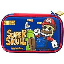 Indeca- Bolsa funda de transporte para Nintendo 3DS XL - 2DS XL de Calaveritas (modelo Super Mario)