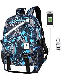 8ed749e3b0 KYD Unisex Cool Boys Girls Men Women Outdoor Backpacks Travel Rucksack  Anime Luminous Backpack Daypack Shoulder