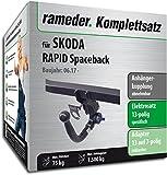 Rameder Komplettsatz, Anhängerkupplung abnehmbar + 13pol Elektrik für Skoda Rapid Spaceback (124457-11519-2)