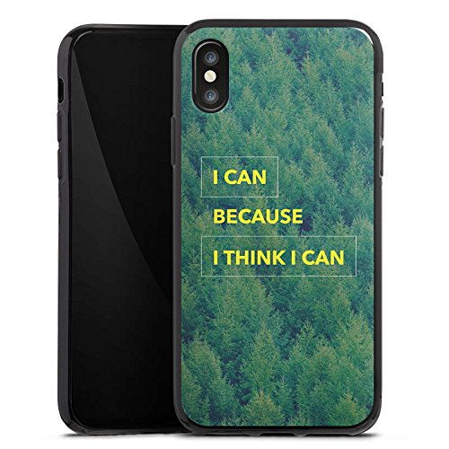 Apple iPhone X Silikon Hülle Case Schutzhülle Motivation Fitness Statement Silikon Case schwarz