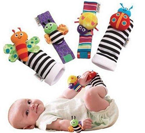F y Z: 4 Calcetines Suaves para bebé, diseño de Mariquita, para muñeca y Tobillo