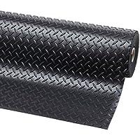 Piso de goma diamante | 4mm de espesor | 1.5m de ancho | 2m de largo | antideslizante | alfombrilla para suelos de seguridad para garaje, taller, gimnasio, estable, Parque etc