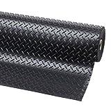 Wählen Sie aus 11Größen von Checker Plate Gummi Boden Matten Rolle | 5mm dick x 1,5m Breite, verschiedene Längen | rutschfeste Sicherheit Bodenbelag | Matte geeignet für Garage, Werkstatt, Fitnessstudio, stabil, Spielplatz etc.