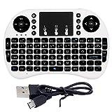 Rii I8+ 2.4GHz mini tastiera senza fili con retroilluminazione LED Touch Pad mouse tastiera inglese con batteria ricaricabile integrata nero Kodi XBMC Raspberry Pi Android box HTPC Iptv telecomando