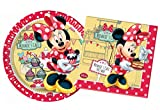 Procos 10105466 Kinderpartyset Disney Minnie Café, Größe S