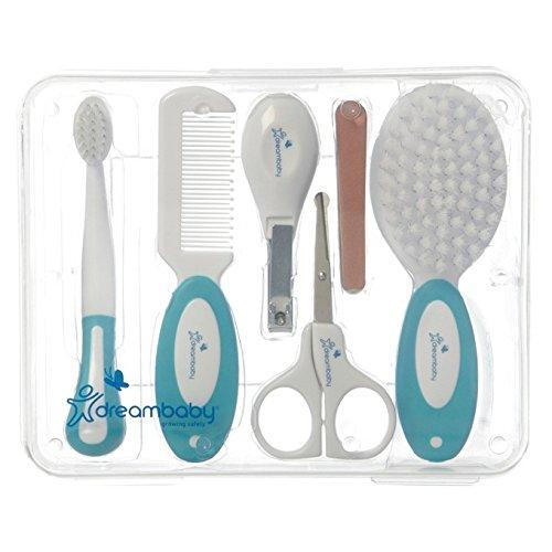 Dreambaby F333 Universal Baby-Pflege-Set alle Pflegeartikel Erstausstattung-Set Baby-Haarpflege Nagelpflege 10-teilig, weiß