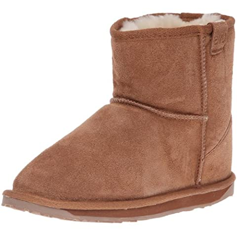 EMU Australia Wallaby Mini, Boots mixte enfant - Beige /Chestnut- 27 EU (9 UK)