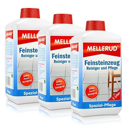 3x Mellerud Feinsteinzeug Reiniger und Pflege 1L