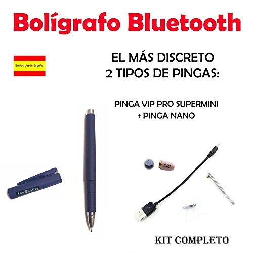 Bolígrafo Bluetooth + Pinga Vip Pro SuperMini KIT COMPLETO … (Azul)