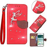 Nokia 2.1 Case,Series Case Slim Premium PU Leather Wallet Case Case Slim With Kickstand And Credit Card Slot Cash Holder Flip Case Compatible With Nokia 2.1 Red