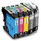 OfficeWorld Reemplazo para Brother LC223 Cartuchos de Tinta Alta Capacidad Compatible para Brother DCP-J562DW DCP-J4120DW MFC-J480DW MFC-J4420DW MFC-J5320DW (2 Negro, 1 Cyan, 1 Magenta, 1 Amarillo)