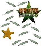 Deko Stern mit 13 Kunststoff SCHLEIMIGEN Maden - Glow in the Dark ! - Ich bin ein Star - holt mich hier raus - Dschungelcamp - für Party Dekoration lustig eckelig Dschungelprüfung