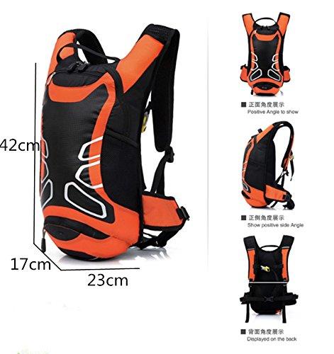 Wandern Rucksack Outdoor 12L Wasserdichte Reise Bergsteigen Fahrrad Radfahren Tasche Schulter Rucksack Orange