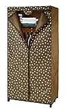 Wenko 86503500 Kleiderschrank mit Ablage Pretty Woman-Kleideraufbewahrung, Polyester, 75 x 160 x 50 cm, Braun, 50 x 75 x 160 cm