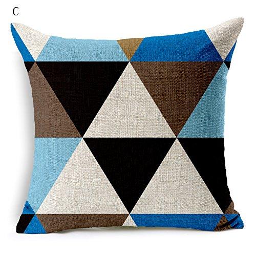 Puppe Zoll Muster 18 (Flashing-Geometrische Muster Kissen Büro Kissen Bettwäsche aus Baumwolle Wohnzimmer Sofakissen 18*18inch)