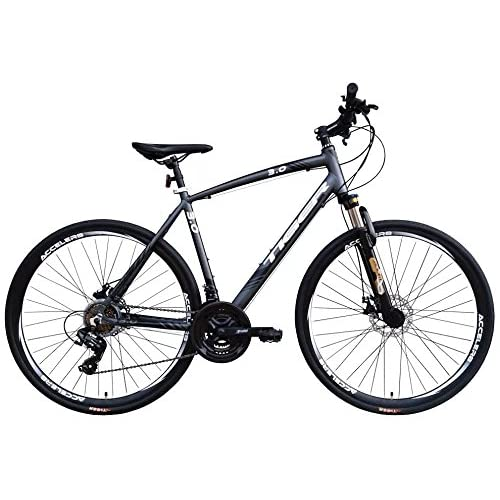 51esdANBAwL. SS500  - Tiger Legend 3.0FS Alloy Sports Hybrid Bike with lock-Out Suspension Fork