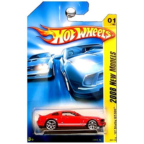 2008 New Models #1 \'07 Shelby GT-500 Ford Mustang Red #2008-1 Collectible Collector Car Mattel Hot Wheels