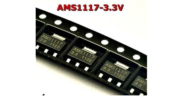 20Pcs Voltage Regulator AMS1117-ADJ AMS1117 LM1117 1A SOT-223 uv