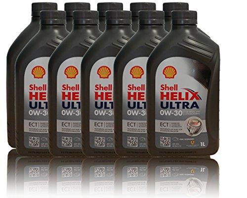 10x1 Liter Shell Helix Ultra ECT 0W-30 API SN; ACEA C3; BMW LL-04; MB-Freigabe 229.51