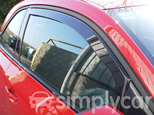 Heko Tinted Acrylic Front 2 Piece Wind Deflectors Pair Set