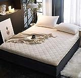 CNZXCO Faux Kaninchen Matratzenschoner Japanischen futon Tatami Matte schlafen, Gesteppte matratze ausgestattet Abdeckung Tiefe Tasche Anti-rutsch-Wei? Queen1