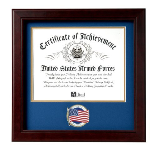 Godlove Allied Frame US American Flag Certificate of Achievement Picture Frame with Medallion-8 x 10 Zoll Opening ab