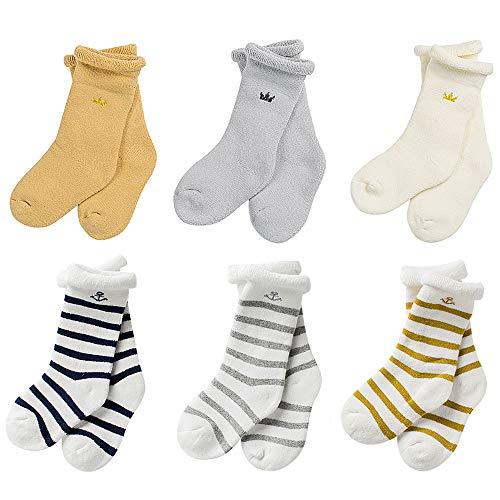 Baby Socken 0-36 Monate Baby Mädchen Jungen Bauumwolle Socken Set (Set 3-6 Pairs, M)