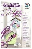 Ursus 22460099 - Paper Birdhouses, Bastelset für 10 Vogelhäuschen, shabby chic