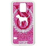 Samsung Galaxy S5 Case Cover White Victoria Secret Pink Custom Cell Phone Case 25P568412