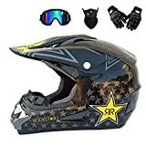 MRDEER Professionnel Casque De Moto Cross Ensemble Road Race Casque De Route Unisexe...