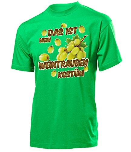 Weintrauben Kostüm Herren T-Shirt Männer Obste 4982 Karneval Fasching Faschings Karnevals Paar Gruppen Outfit Motto Party Oberteil Grün XXL