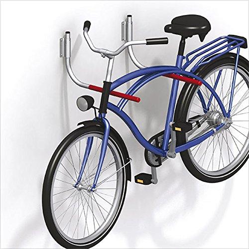 1 Paar GedoTec® Profi Fahrradhalter Fahrrad-Haken klappbar gummiert 550 x 270 mm | Tragkraft 30 kg | Fahrradhalterung für die Wandmontage | Markenqualität für Ihren Wohnbereich - 3