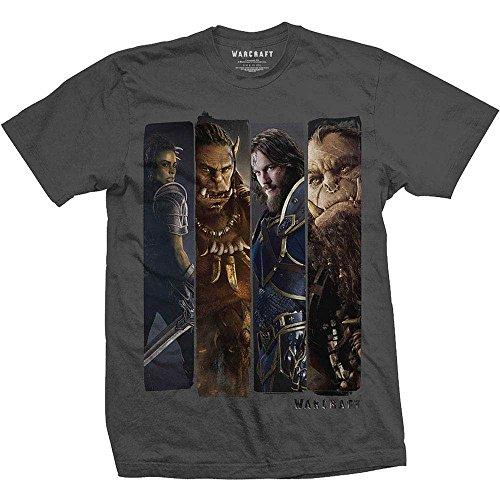 Preisvergleich Produktbild Rocks-off T-Shirt Warcraft Charaktere [anthrazit,  XXL]