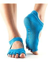 Toesox - Calcetines antideslizantes para baile, se pueden utilizar para barre, yoga, pilates y fitness, 1 par, Skydiver, Medium/6-8.5