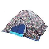 Hi Suyi Tenda Campeggio Automatica Pop up Portatile e Impermeabile Singola da Viaggio Spiaggia Escursionismo Pesca 2*2*1.6M Disegno Mimetica deserto Militare con Carry Bag