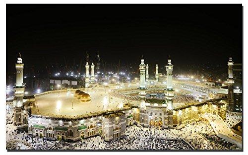 60x120cm - Leinwanddrucke Wandbilder - Moslemischer Islam Leinwand Gemälde Mekka Drucke auf Leinwand für Wohnzimmer (PC4021, 60 x 120 cm)