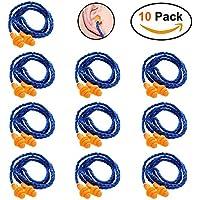 Uteruik - Tapones Reutilizables para los oídos (10 Pares), Color Azul