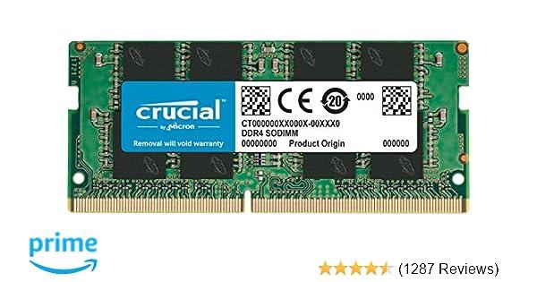 Crucial CT8G4SFS824A 8GB DDR4-2400 PC4-19200 CL-17 SODIMM RAM
