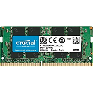 Crucial CT16G4SFD8213 Memoria da 16 GB, DDR4, 2133 MT/S, PC4-17000, Dual Rank x8, SODIMM, 260-Pin
