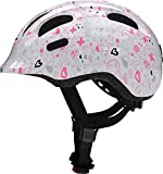 Abus Fahrradhelm Kinderhelm Smiley 2.1 LED-Licht White Crush 50-55 cm