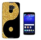 003250 - Gold and black ying yang Design Alcatel idol 4S