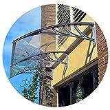 NEVY- Tenda Per Tettoia Protegge Da Sole, Pioggia, Nevischio O Tenda Da Neve Tettoia Da Giardino Per Porte E Finestre Per Esterni (Color : Clear-D, Size : 80cmx100cm)
