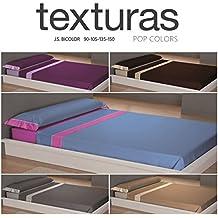 TEXTURAS HOME - Juego Sábanas de Verano POP COLORS ( Varios tamaños disponibles ) (150_x_200_cm, VISÓN-CRUDO)