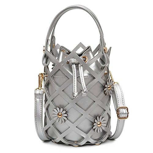 Die Neue Blume Koreanische Version Der Handtaschenhandtasche Art Und Weiseschulter Kurierbeutel Silver
